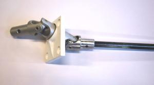Cardan Manivelle Volet Roulant.Cardan Double A 90 Fixation Sous Coffre Carre De 6mm Pour Manivelle De O 15mm